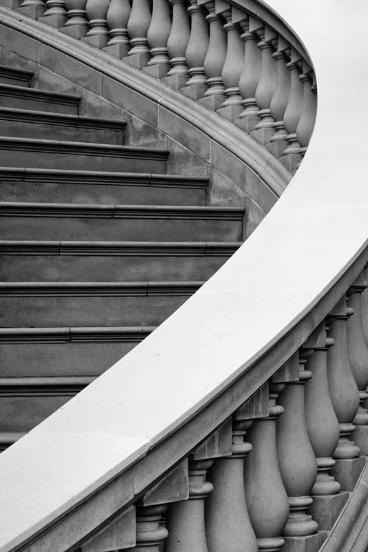 Stairs | The perfect curved staircase for running in a ball gown and glass shoes