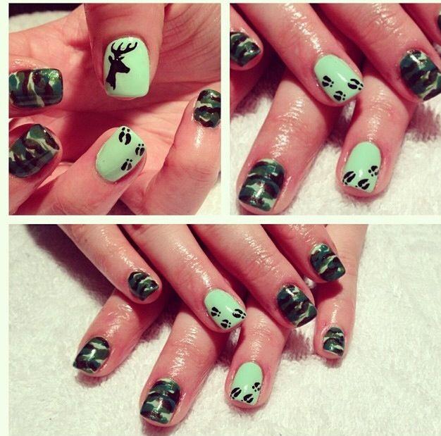 unique deer nails ideas