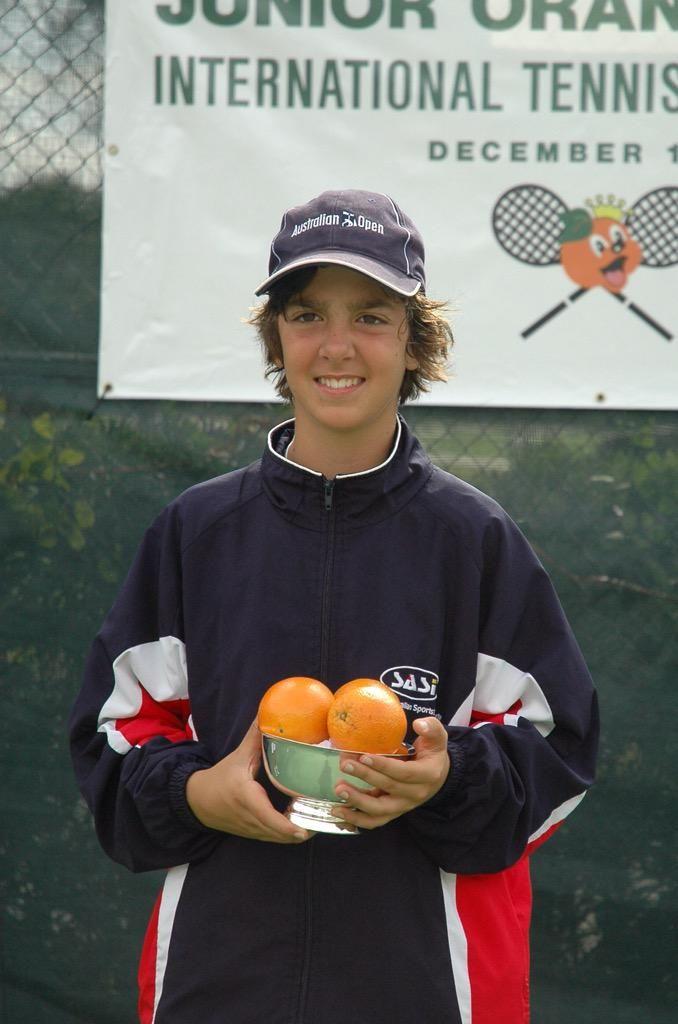 "2008, Orange Bowl :  Australian Tennis Player Thanasi Kokkinakis. (10.04.1996) His height is  6'5"" (1,96m) now."