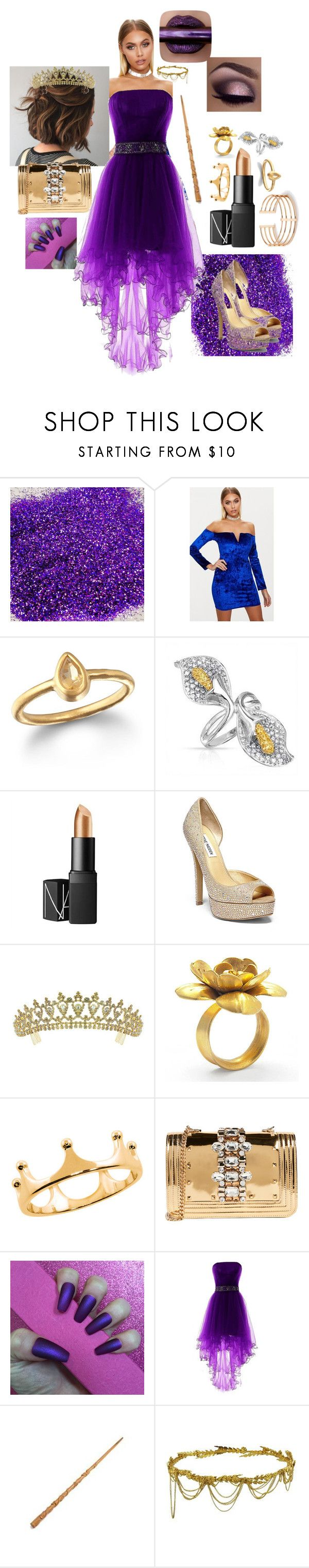"""""""Louisa's Yule Ball"""" by fictionaljevem on Polyvore featuring Satya, Bling Jewelry, NARS Cosmetics, Steve Madden, Kate Marie, Eternally Haute, GEDEBE and Jennifer Behr"""