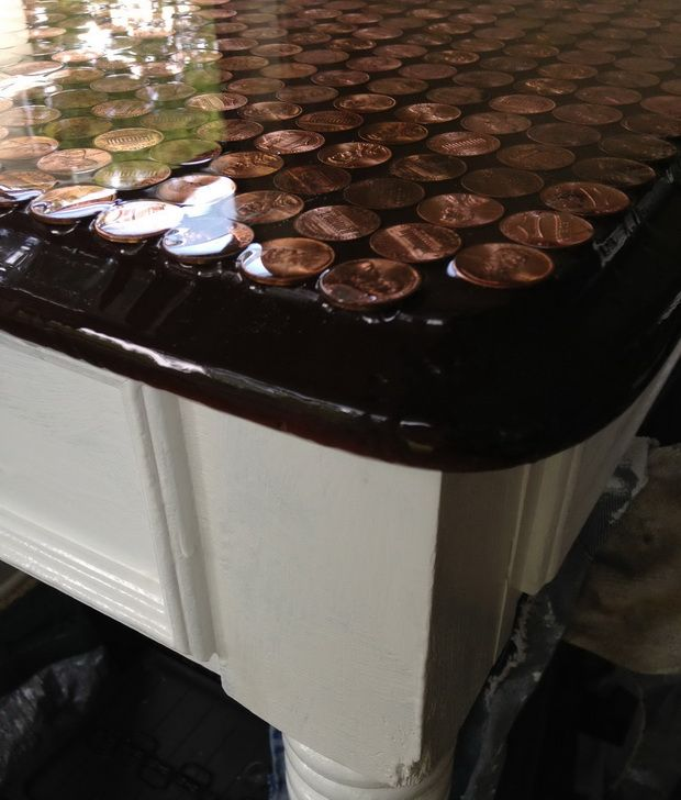 Got $50 bucks? Then create this DIY coffee table project with 2000 pennies!