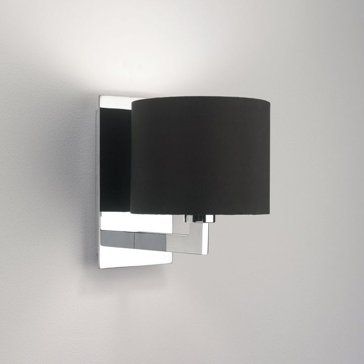 the olan wall light in chrome comes with a choice of shades which are sold separately