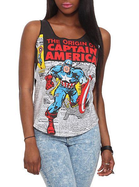 Marvel Universe Captain America Girls Tank Top | Hot Topic