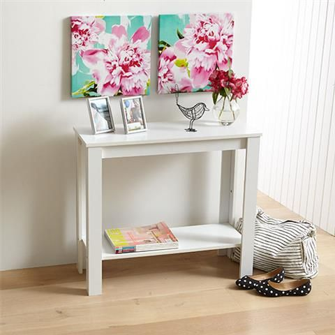 White Hallway Table | Kmart Use 2 of these too make a long narrow desk in a small room