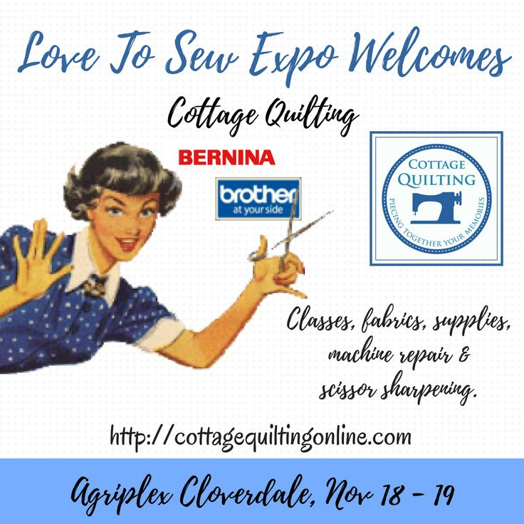We're excited to welcome Cottage Quilting all the way from Kelowna, BC.