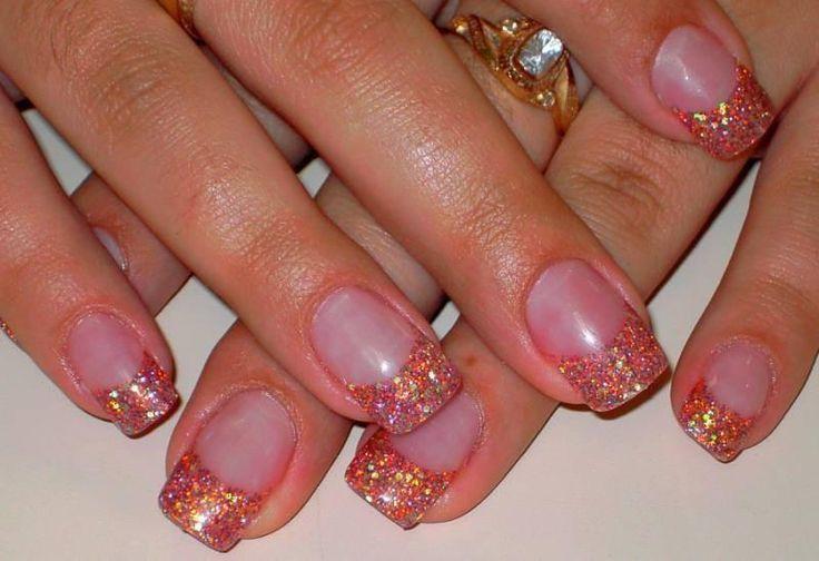 Acrylic glitter nail tips | Nails Style | Nail acrylic nail tip designs