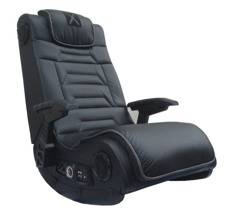 Awesome Black Microfiber Upholstered Gaming Chair With Adjustable Arms And Padded Headrest With Best Pc Gaming Chairs Also Most Comfortable Computer Chair For Gaming