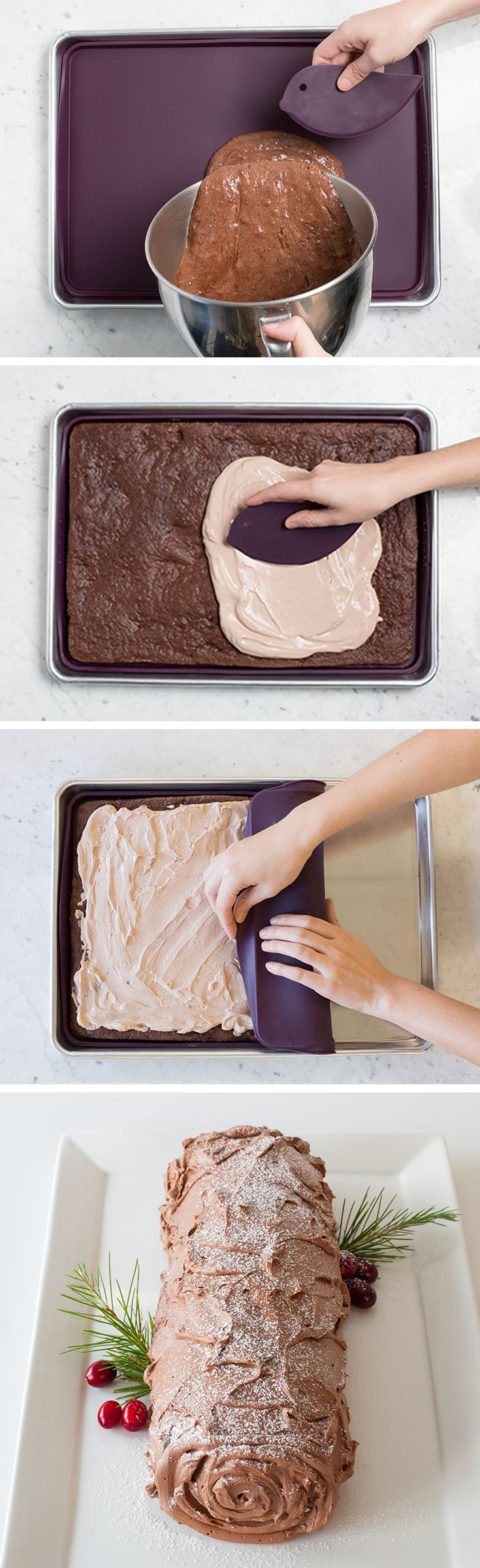 Bake & Roll: A multi-purpose, flexible, non-stick baking mat for rolled cakes, roulades, and cookies.