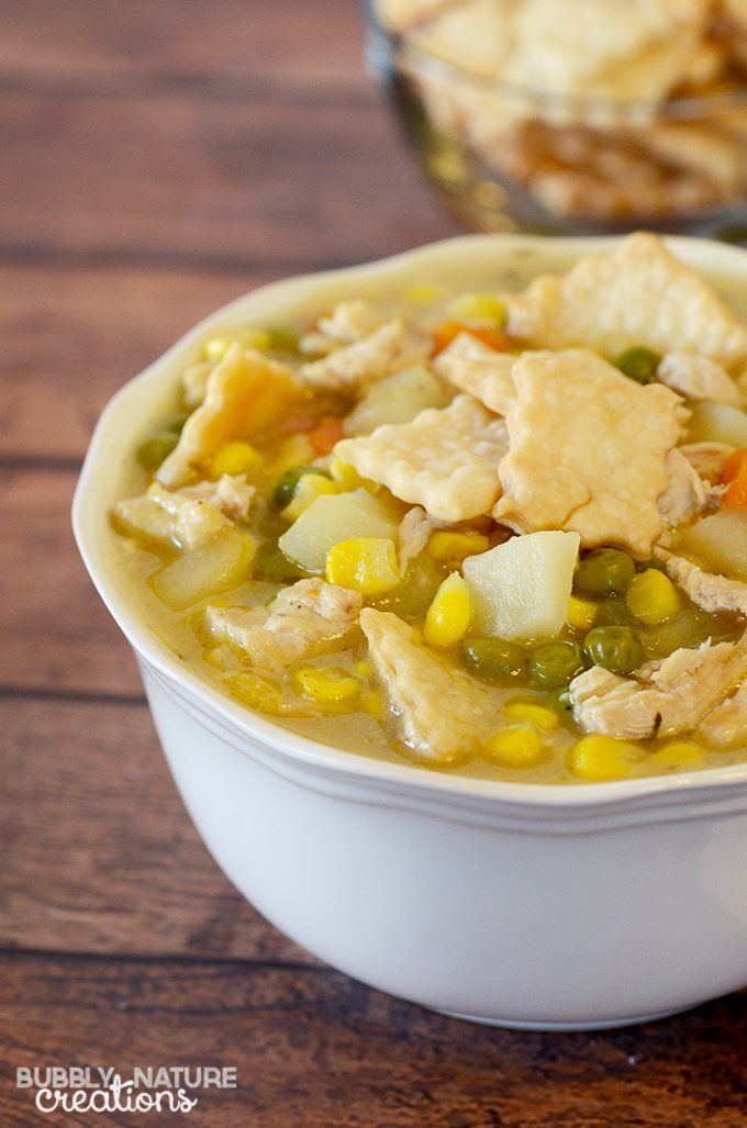 This simple recipe for chicken pot pie soup is sure to be a week night hero in your house. Delicious comfort food made easy.