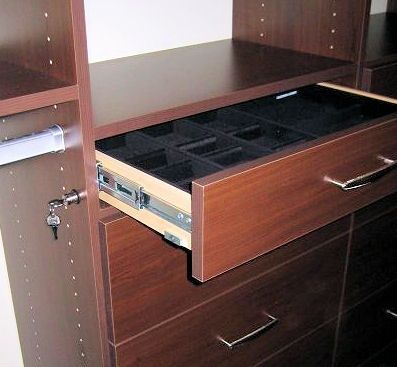 Great Closet Feature, A Jewel Drawer With A Lock