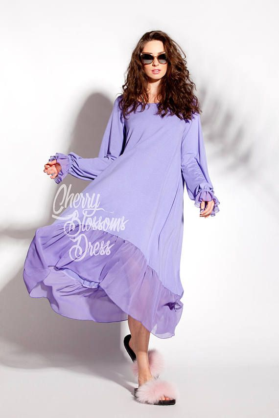 Purple Maxi dress/ Plus size dress/ Summer dress/ Maxi dress