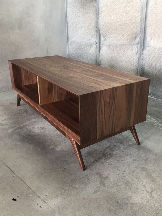 handmade midcentury modern coffee table in walnut by on etsycom