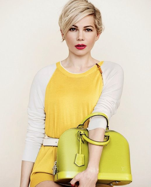 Michelle Williams for Louis Vuitton: Don't you love the bright colors, and her =hair=!
