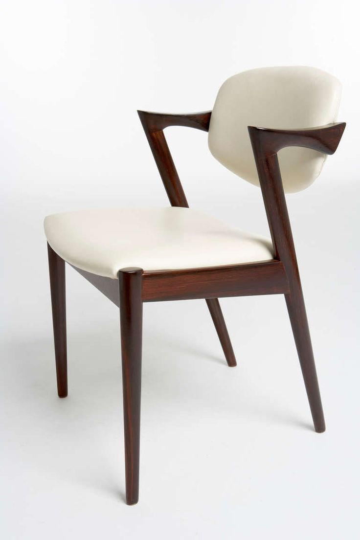 Modern wood chair with arms - Kai Kristiansen Rosewood Dining Chairs Circa 1957 1970