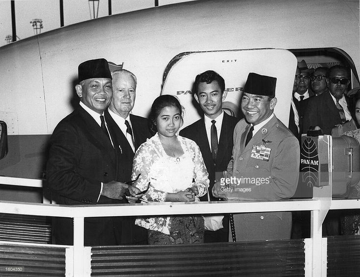 Indonesian President AchmedSukarno, right, stands with, from right to left, his son, Guntur, his daughter, Megawati, Richard Patterson, the Commisioner of the New York City Department of Commerce, and S. Wirjopranoto, the Indonesian Ambassador to the United Nations, in 1961 at New York International Airport in New York City.Sukarno''s daughter MegawatiSukarnoputri was appointed president of Indonesia on July 23, 2001 after the Indonesian legislature voted to oust former President…