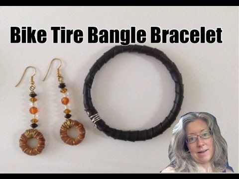 DIY inner tube: How to make and interchangeable bracelet - YouTube