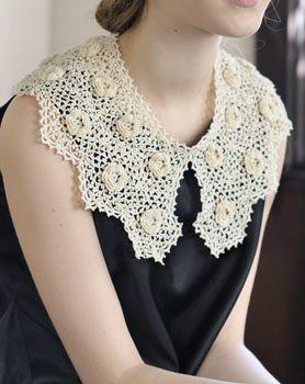 Irish crochet collar
