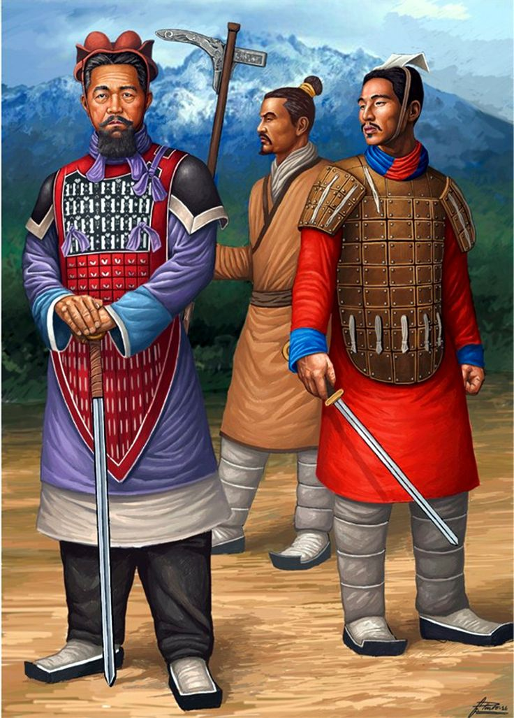Ancient Chinese infantry during the Qin Dynasty