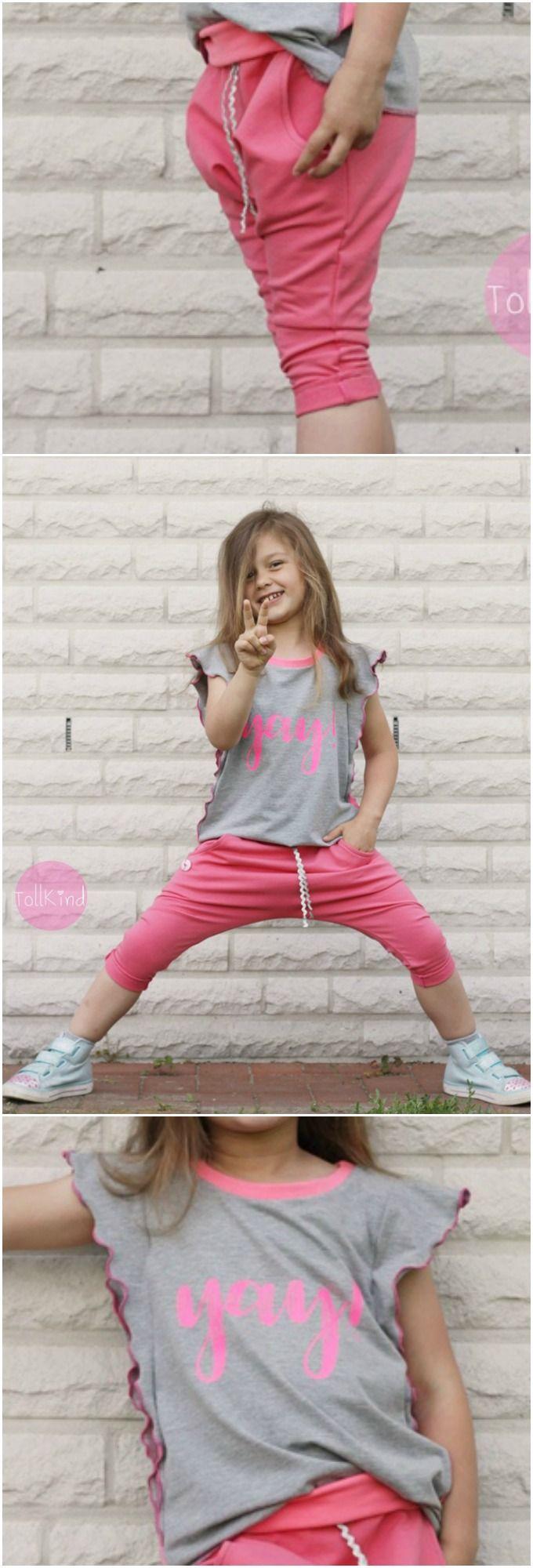 Der Sommer kann kommen mit diesem süßen Outfit! ♥ Genäht mit Stoffen von Stoffkontor von der lieben Sabrina von Tollkind.