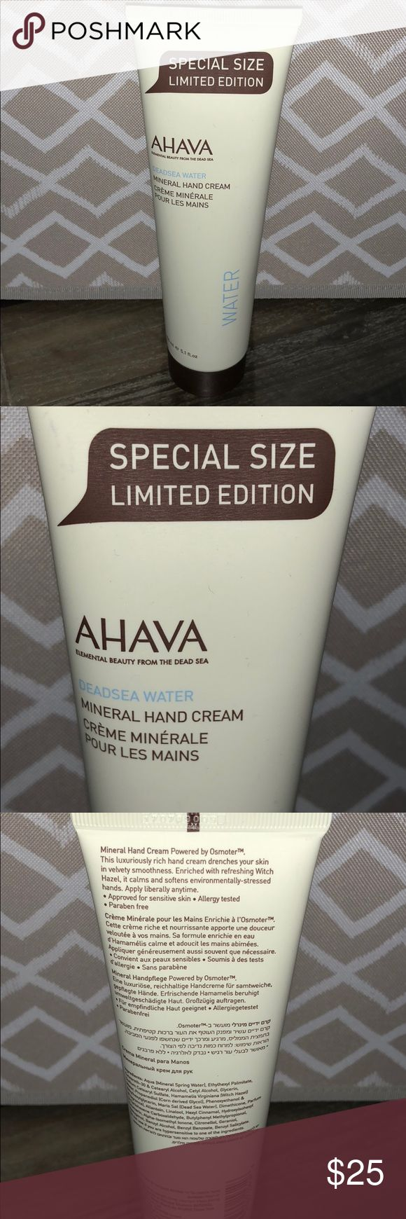 AHAVA Deadsea Water Mineral Hand Cream Never been used or opened! Comes from pet and smoke free home!   Approved for sensitive skin, allergy tested, Paraben Free. AHAVA Other