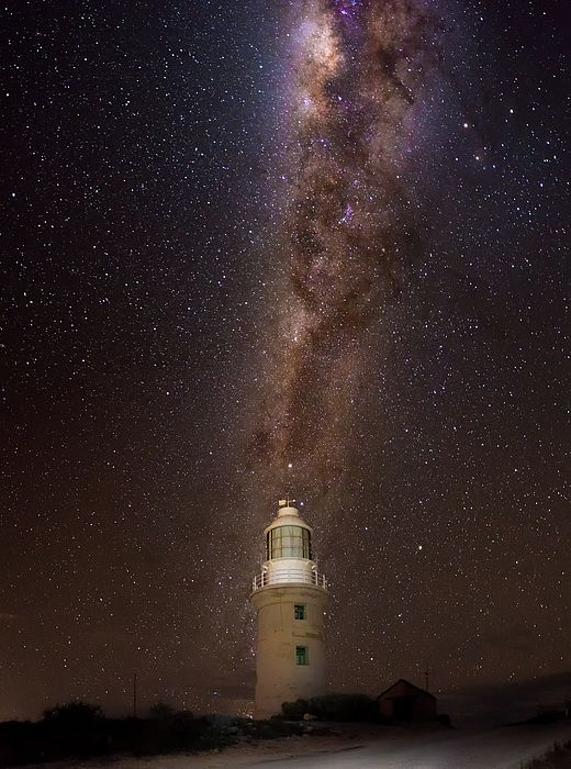 Glowing Milky way above Vlaming Head lighthouse, Ningaloo national park, Western Australia #australia #westernaustralia #travel #galaxy  #stars #milkyway