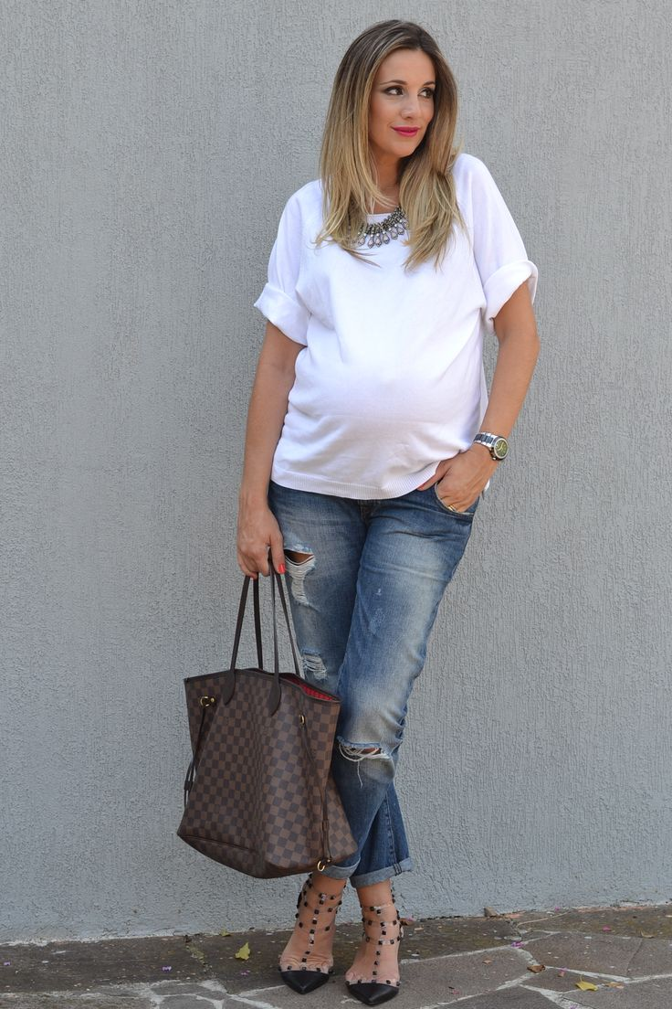 pregnant style, babybump, jeans, 32 weeks