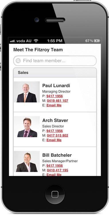 nelsonalexander.com.au - mobile website - staff results.