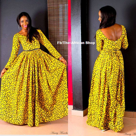 SunShine Maxi Dress by THEAFRICANSHOP on Etsy, £75.00
