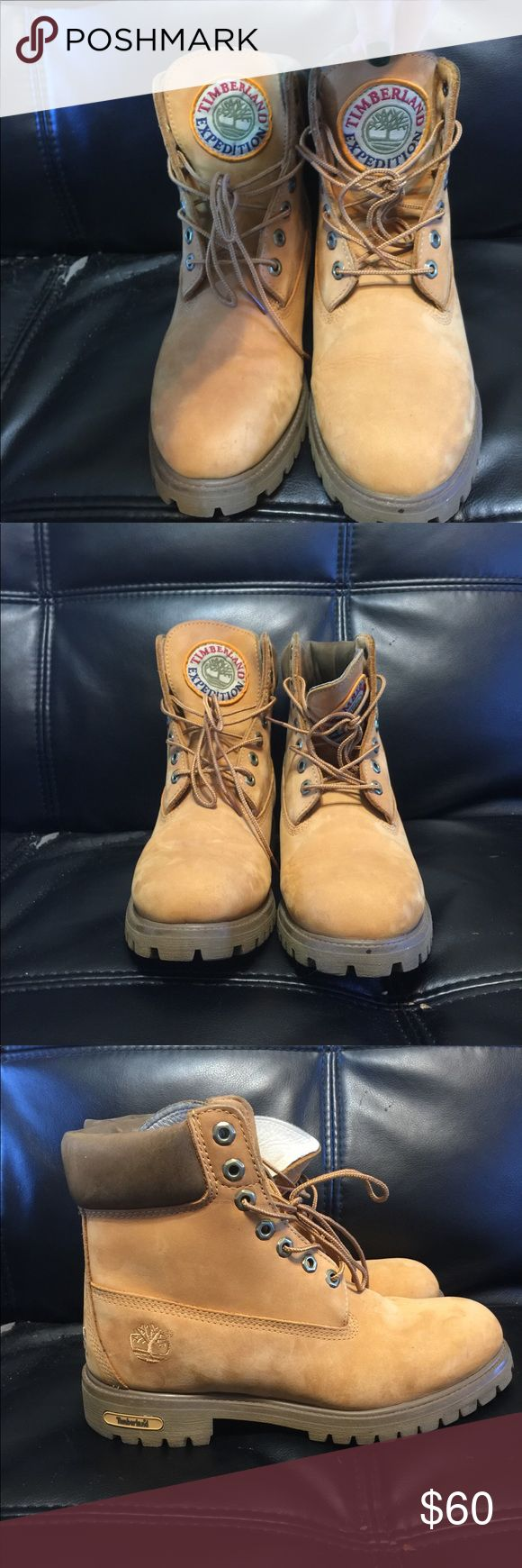 Authentic leather Timberland 1973 expedition boots Great condition authentic leather timberland expedition boots. Men's size 8.5. Timberland Shoes Winter & Rain Boots