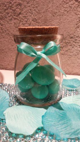 20 barattoli porta confetti bomboniera MATRIMONIO vasetti di vetro tiffany | eBay
