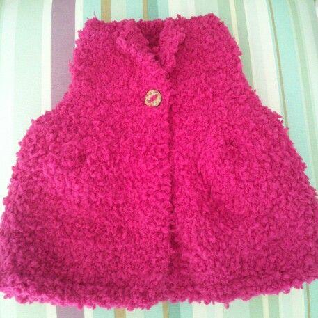 Knit Baby Girl Waistcoat