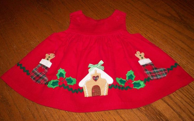 Darling Size 3-6M Baby Girl's Corduroy Christmas Jumper Dress Gingerbread L@@K! #Unbranded #DressyEverydayHoliday
