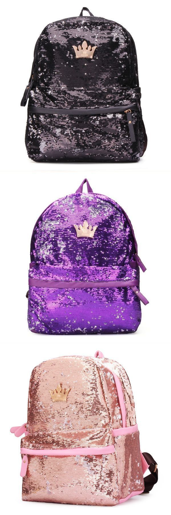 Crown sequin women girls backpack paillette schoolbag  backpack 72 hour kit #backpack #and #lunchbox #backpackers #inn #taipei #backpacking #8 #miles #r #kelly #backpack