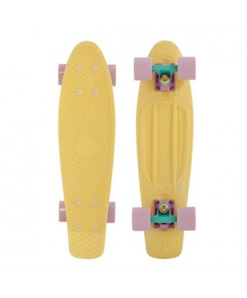 "I am in love with Penny Boards! So cute and would be loads of fun with friends! My favourites are the pastel colours, 22"". This lemon colour with lilac wheels caught my eye!"