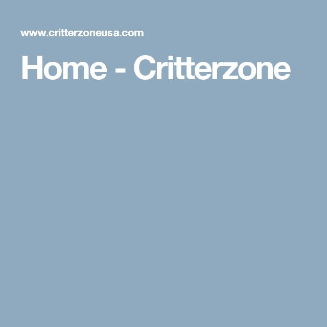 Home - Critterzone