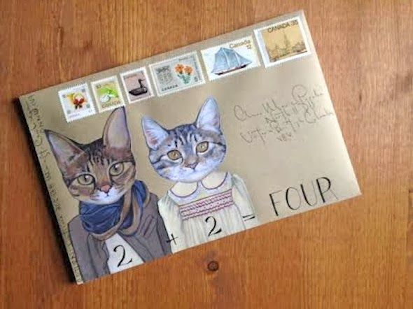 snail mail advent calendar