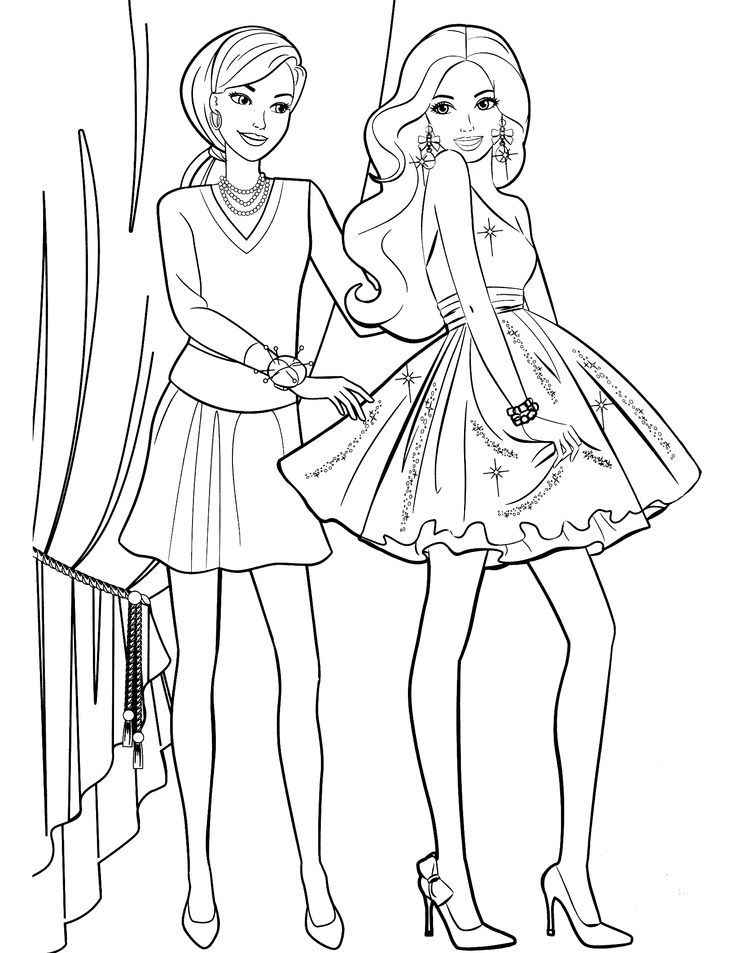 awesome barbie printable coloring pages for kids girls and boys