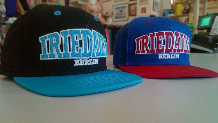 Awesome Backsnap Caps by Iriedaily Berlin :) #backsnapcap #cap #iriedaily #berlin #blackandblue #redandblue #humanadresden