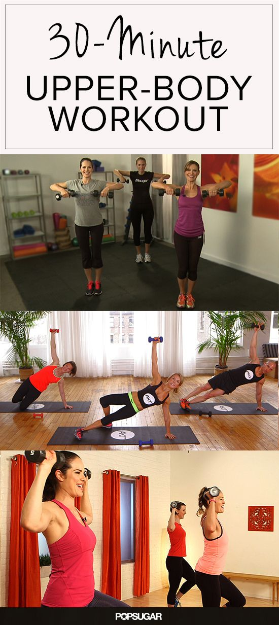 Feel Sore Tomorrow With This 30-Minute Upper-Body Workout | PopSugar #fitvid #video #fitness