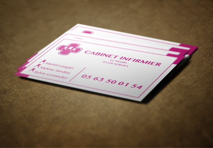 Cartes de visite Cabinet Infirmier - Serviès (81)
