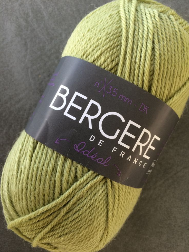 Ideal Light Weight Wool Blend Yarn, DK by Bergere De France, Light Worsted, Color Olivine, Olive Green, Soft Yarn, Hand and Machine Knitting by SuziesYarnEmporium on Etsy