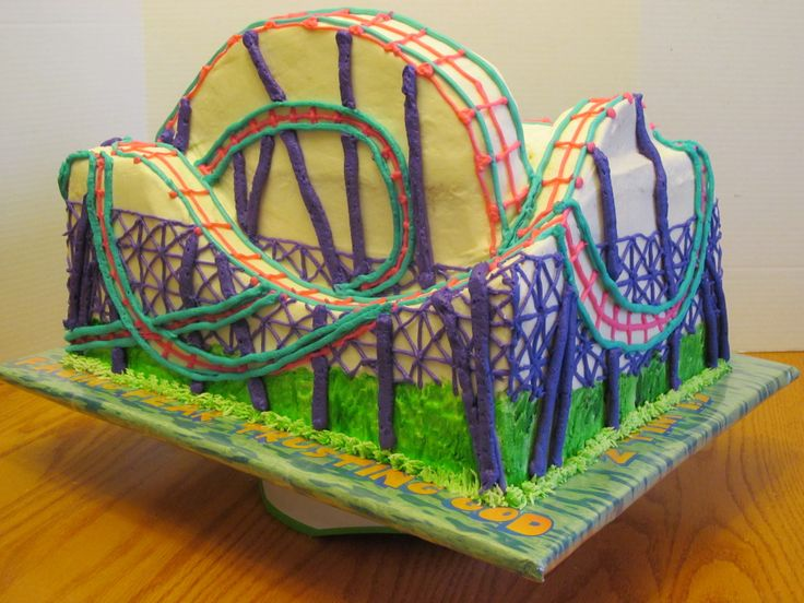 17 Best Images About Roller Coaster Cake On Pinterest