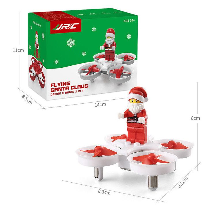 Rc Flying Drone Santa Claus Aircraft Quadcopter Toy Children Xmas Gift