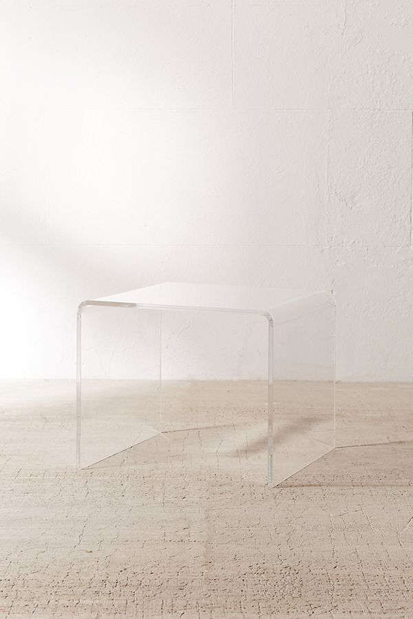 Miotto Acrylic Curve Side Table Acrylic Side Table Furniture Table