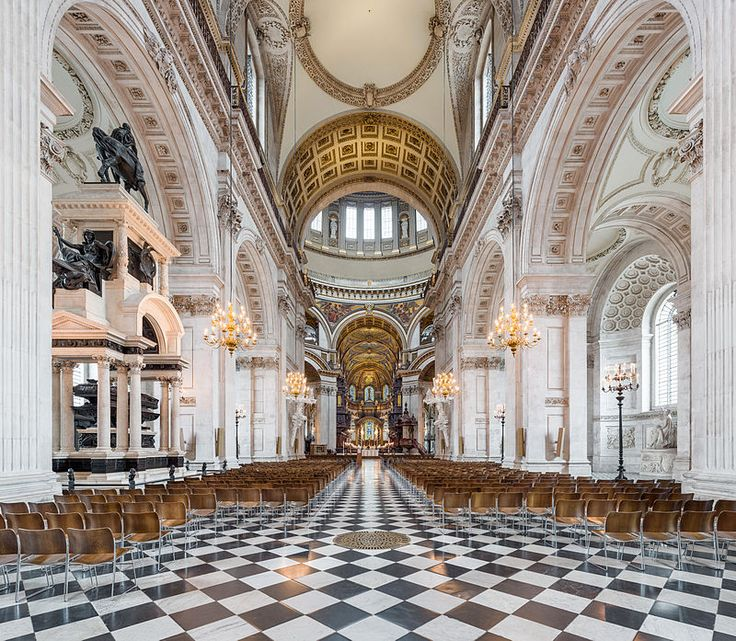 St Paul's Cathedral Nave, London, UK - Diliff - Catedral de San Pablo de Londres - Wikipedia, la enciclopedia libre