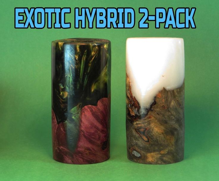 "Exotic Hybrid Duck Call 2-PACK Barrel Blanks 3"" x 1.4"" with 5/8"" Center Bore #DucksUSA"