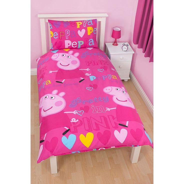 24 best Peppa pig images on Pinterest | Girl nurseries, Kidsroom ... : peppa pig quilt cover set - Adamdwight.com