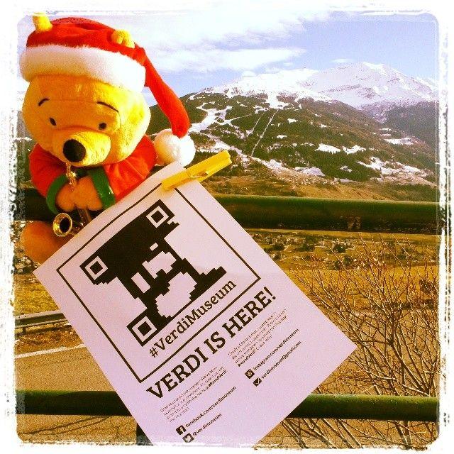 @lauraamattia #FoundVerdi in #Bormio: #happychristmas! #buonnatale! #verdiishere everytime! #verdimuseum #Verdi #guerriglia