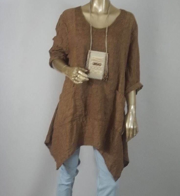 Pin By Charity Heroux On Art To Wear Linen Tunic Linen