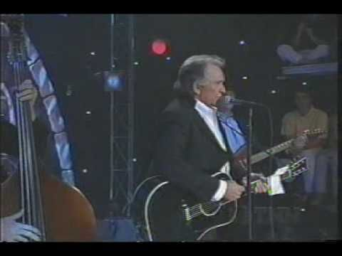 """Johnny Cash, """"I Walk The Line""""; Live performance where Johnny talks about his original recording in 1955 (first one I heard!)"""